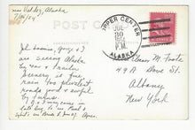Load image into Gallery viewer, 1954 USA Real Photo Postcard - Posted Copper Center, AK - (AO12)