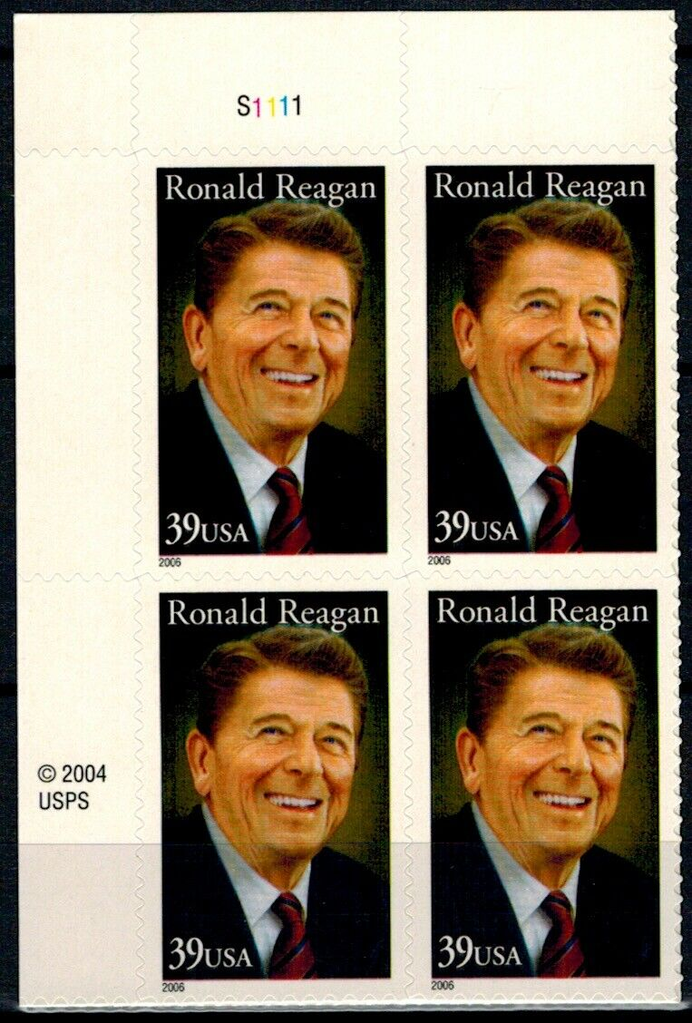 2005 - Ronald Readan Plate Block Of 4 37c Postage Stamps - Sc# - 3897 - MNH, OG - CX738