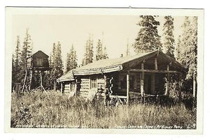"Early Vintage USA Photo Postcard - ""Rangers Cabin, McKinley Park"" (NN23)"