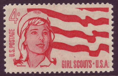 1962 Girl Scouts Single 4c Postage Stamp - MNH, OG - Sc# 1199 - CX205b