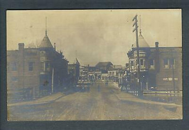 VEGAS - Early 1900s Photo RPPC Postcard Town/City Dirt Road - FD310