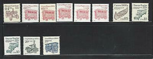 VEGAS- 1990-95 USA Sc# 2451- Part Trans Coil Set As Shown - MNH OG READ -DN11