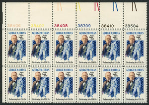 1978 George M. Cohan Plate Block Of 12 15c Postage Stamps - Sc# 1756 - MNH, OG - CT76a