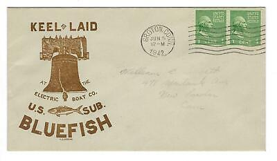 VEGAS - 1942 USA Submarine USS Bluefish Keel Laid Greene Cover - Groton - EQ114