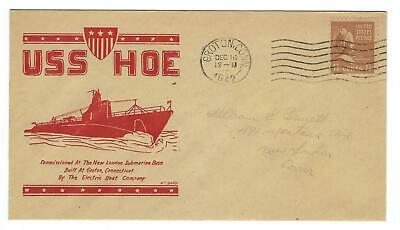 VEGAS - 1942 Submarine USS Hoe Commission Spader Cover - Groton - EQ149