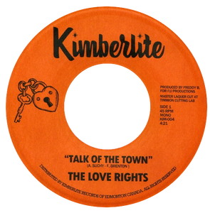 The Love Rights - Talk Of The Town b/w It's Time For A Change - Kimberlite 004
