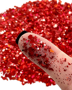 "NEW! ""CANDY APPLE"" LOOSE CHUNKY GLITTER"