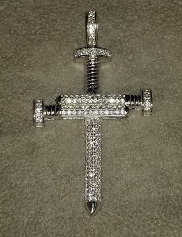 Silver Nail Cross & Necklace Mens Womens, Custom Inspired Religious Jewelry