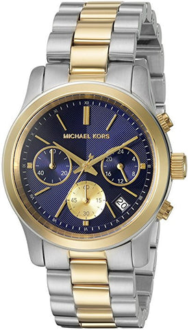 Michael Kors Women's MK6165 Runway Round Two-tone Bracelet Watch