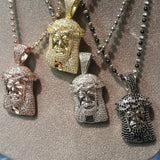 Micro Jesus Head Jewelry Set (Customized Silver Pendant)