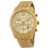 Michael Kors MK8281 Mens Lexington Gold-tone Stainless Steel Chronograph Mens Watch