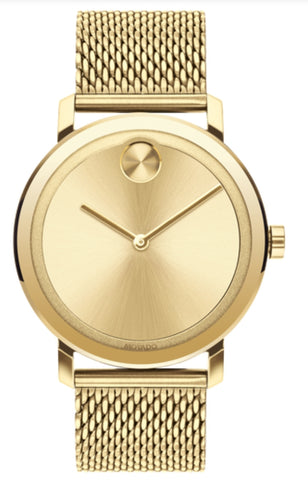 Movado BOLD Evolution Mesh Gold Watch