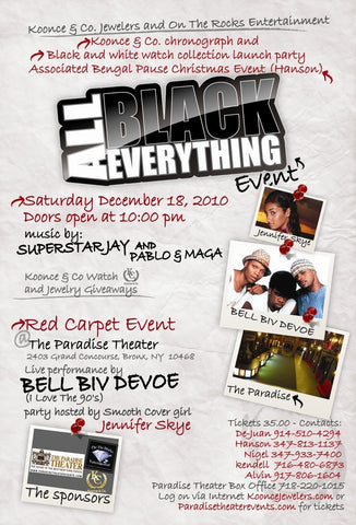 Dec.18, 2010  (All Black Everything Event)