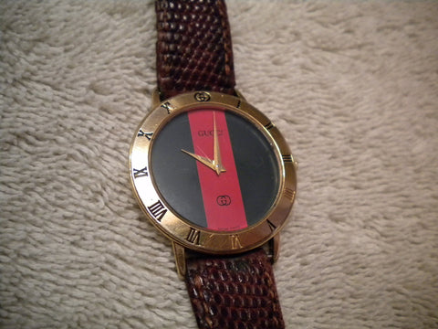 GUCCI 3000 SERIES WATCH GOLD PLATED SWISS MADE
