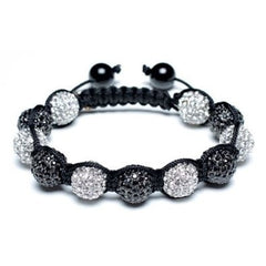 Men's Shamballa Macrame Bracelet Swarovski Crystal Beads 15mm