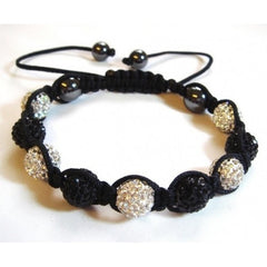 Shamballa Black and White Bracelet