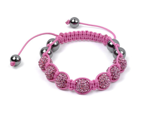 Shamballa Ladies Pink on Pink Bracelet