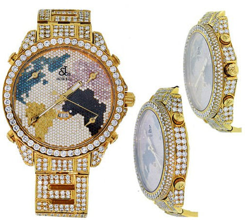 Jacob all Iced Out World Map Diamond Watch