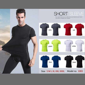 Men's Quick Dry Short Sleeve Compression Shirt
