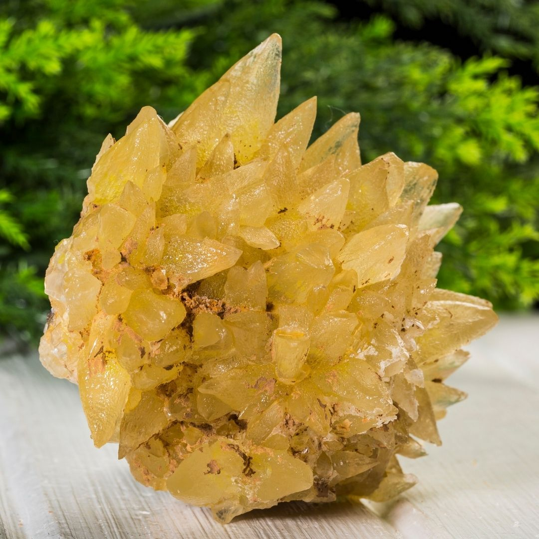 Calcite crystal mineral formation