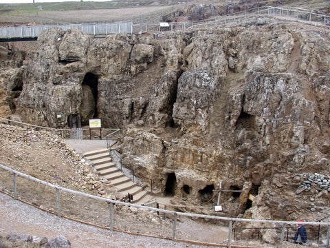The entrance to the Neolithic era malachite mine complex on the Great Orme