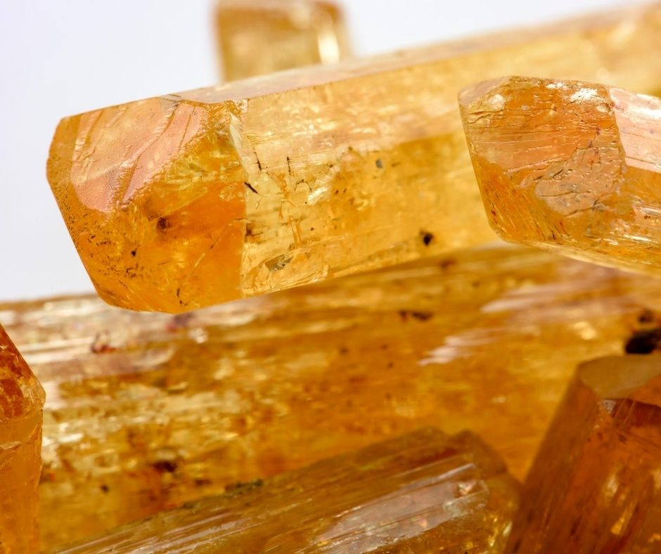 Topaz crystals for autumn