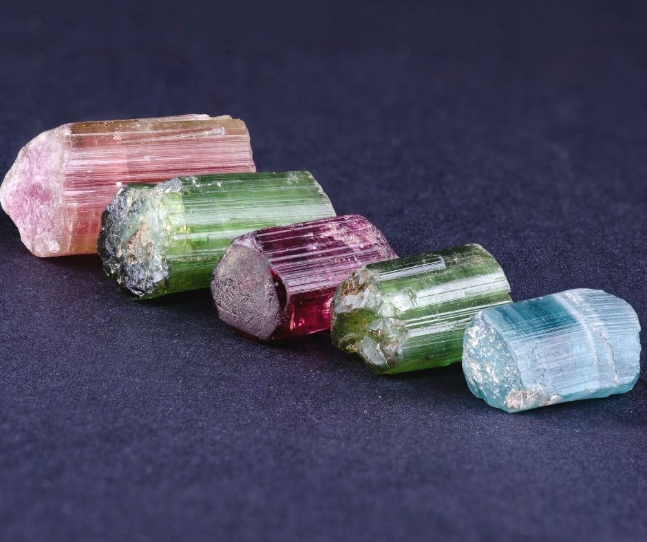 colors of tourmaline crystals