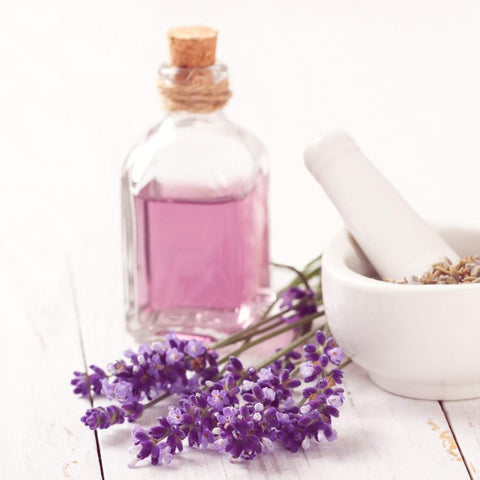 Calming lavender essential oil is perfect to apply to a diffuser bracelet
