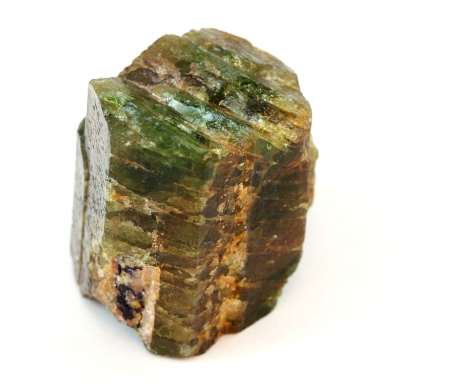 green apatite gemstone