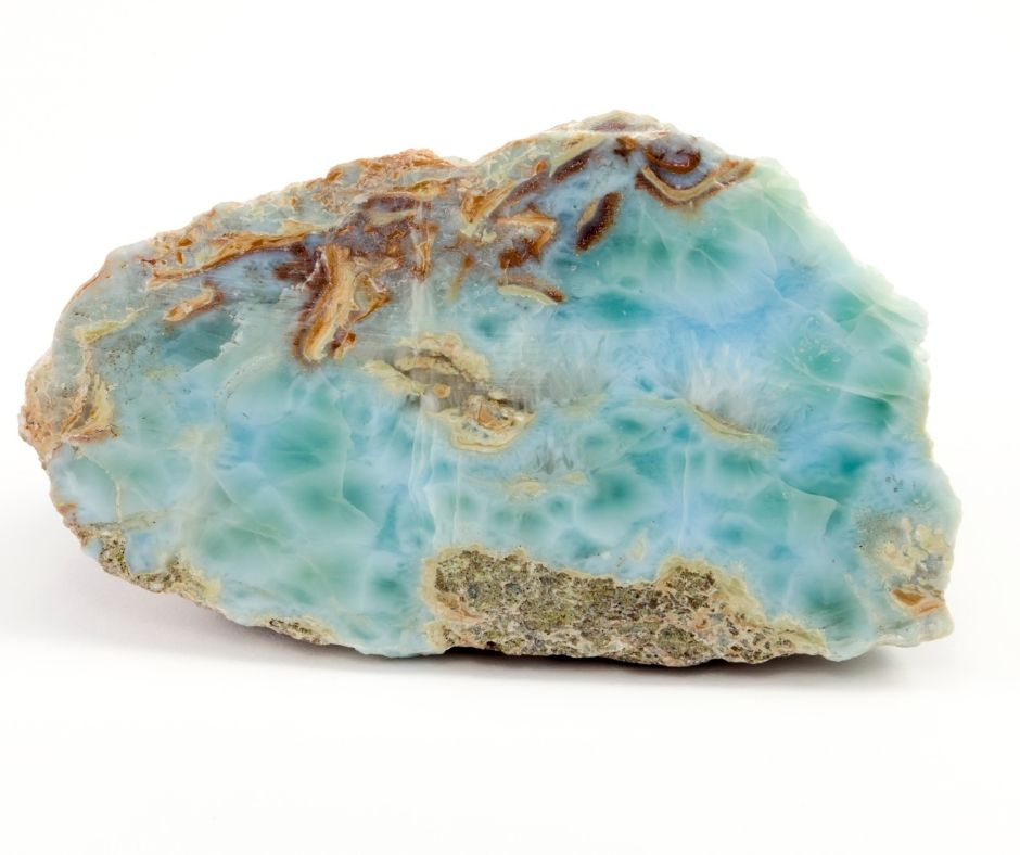 Rough Larimar gemstone