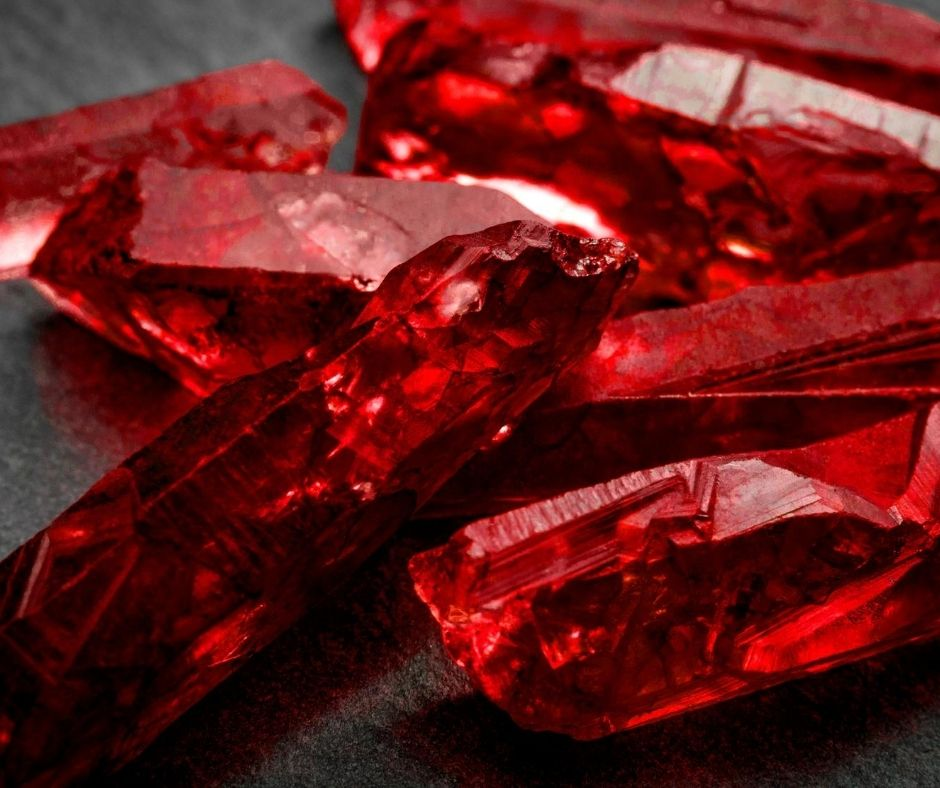Ruby gemstones for autumn