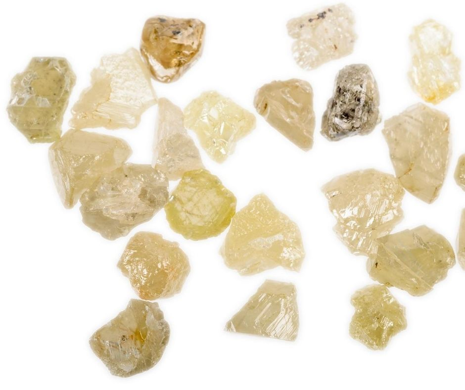raw yellow diamonds