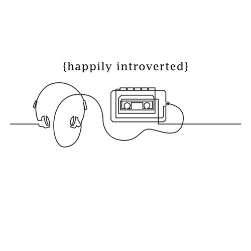 Happily Introverted Laptop Sticker