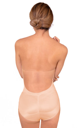 Backless Nude Bodysuit with TUMMY SHAPER Waist Compression - 11470BRA