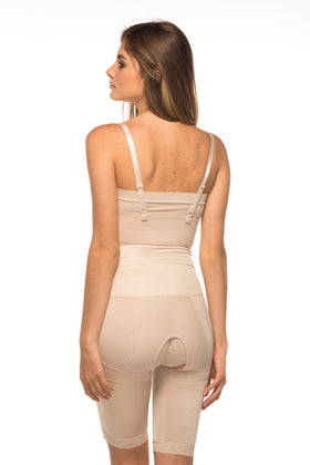Annette Women's Above the Knee Two Side Zipper Girdle-17410PAN