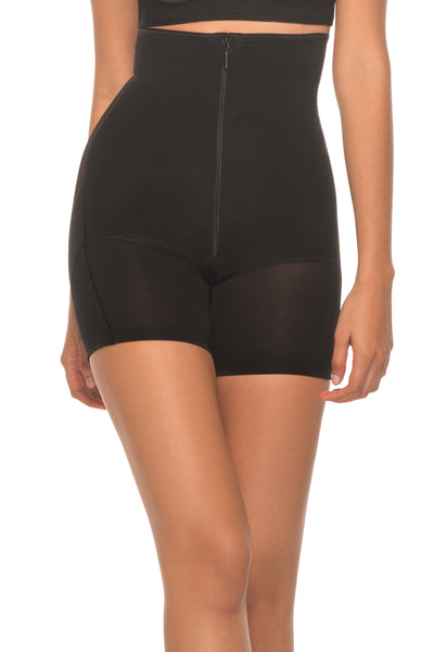 Annette Women's Extra Firm Control High Waist Boy Short with Front Zipper-17524BOX