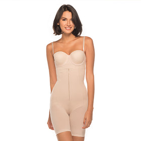 Annette Women's Faja Extra Firm Control High Waisted Mid Thigh Shaper with Invisible Zipper-17546TGT