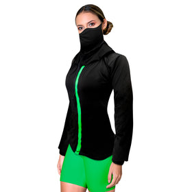 Shirt with Face Mask made with Anti-Fluid Treatment - N102