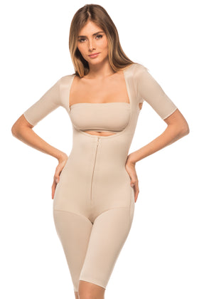 Annette Women's One Piexe Full Body Girdle with Arms-IC-3008