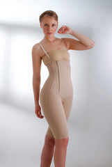 High Waist, Above Knee, Side Zip Girdle AS-9002