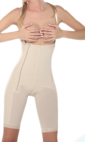 Above the Knee Girdle - Side Zipper - 17365