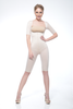 One Piece Above the Knee Full Body Girdle with Sleeves IC-3008