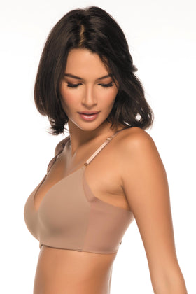 Annette Women's Wireless Bra with Wide Sides and Back- UN0015BR