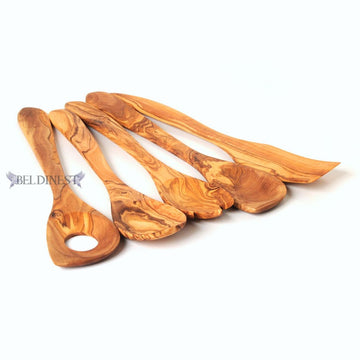 Wooden Utensil Set of 5- Made from Olive Wood