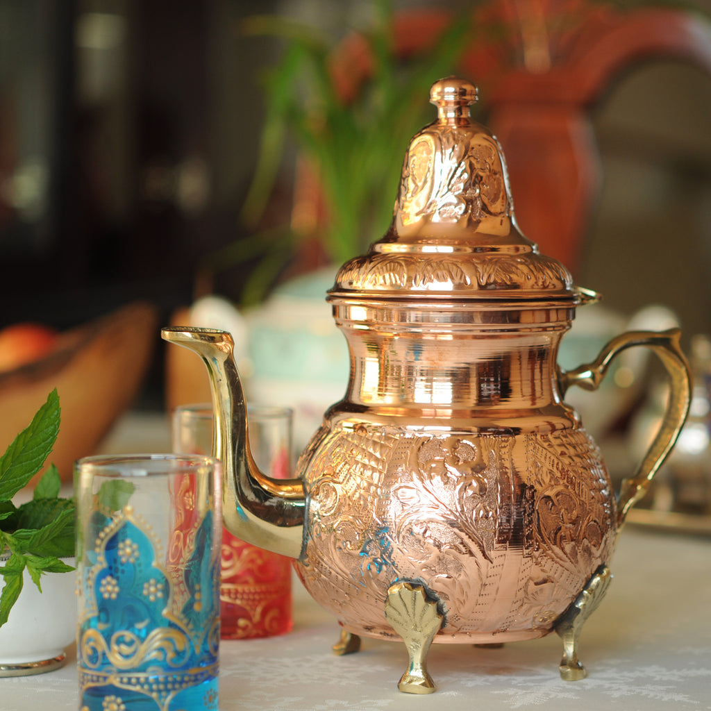 Moroccan Teapot Hand Engraved