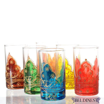 Moroccan-hand-painted-tea-glasses-arabesque-5