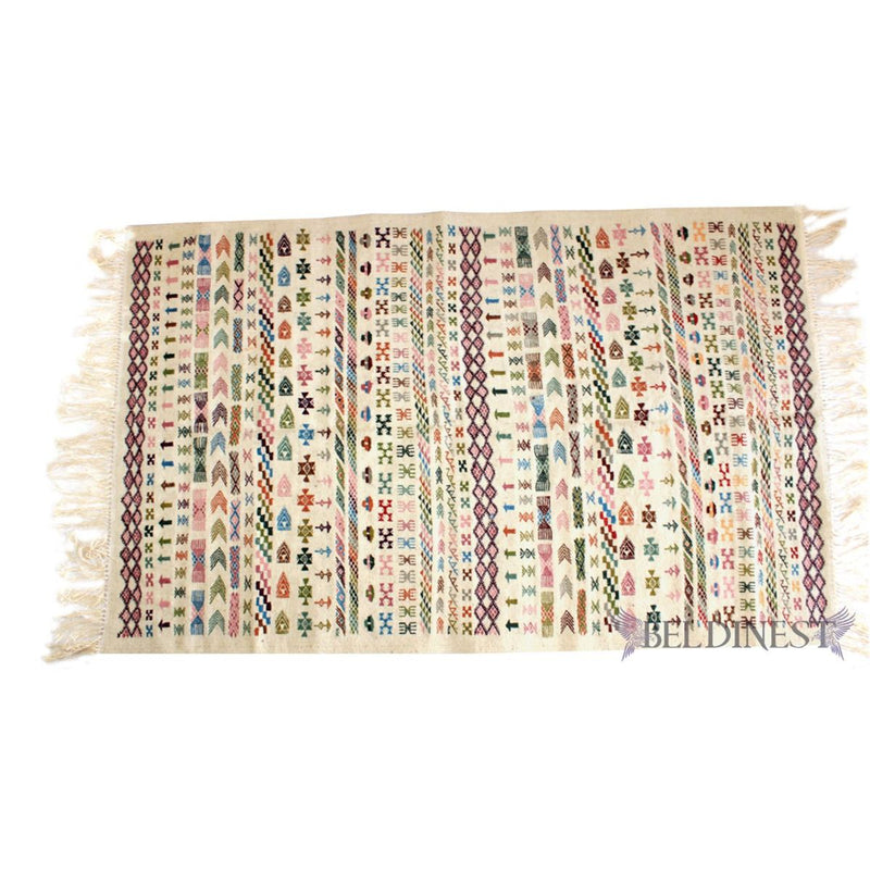 Large Beige Kilim Rug - Made to Order