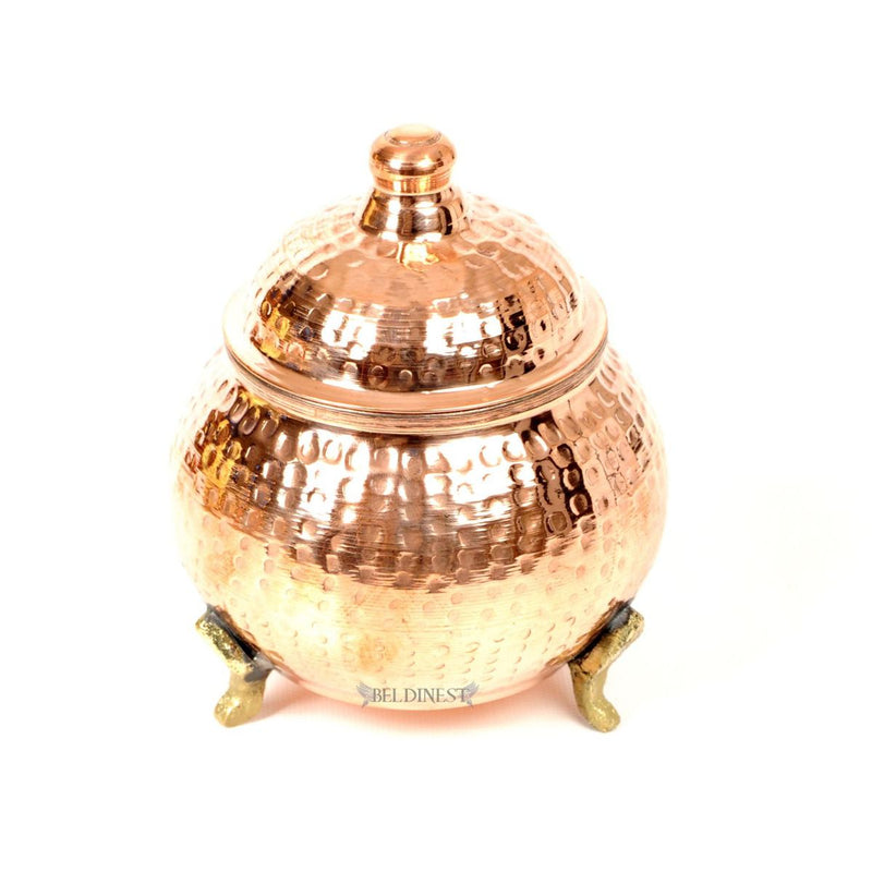 Wide Copper Sugar Bowl