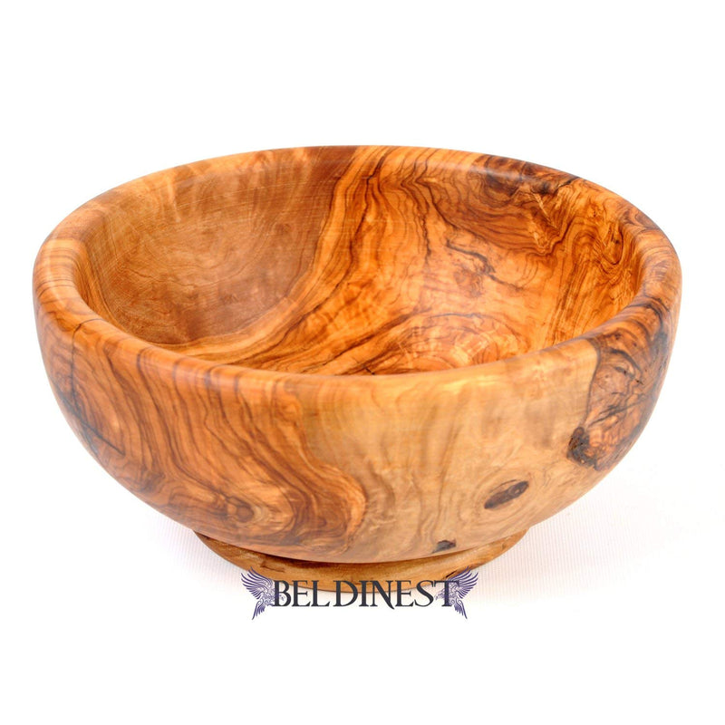 BeldiNest Olive Wood Salad Serving Wooden Bowls