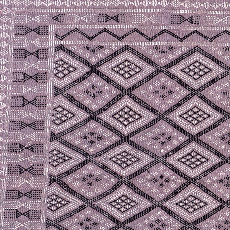 Light Grey Moroccan Kilim Hand Knotted Wool Rug